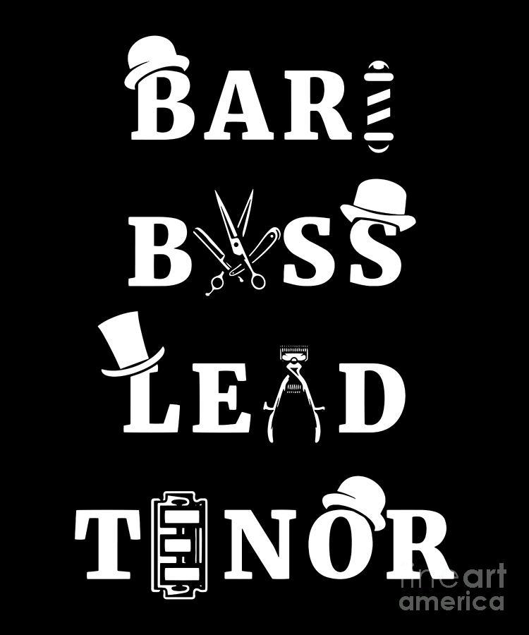 Barbershop Quartet Design Gift For Accapella Music Singers Bass Lead Tenor  Baritones Tag Singing