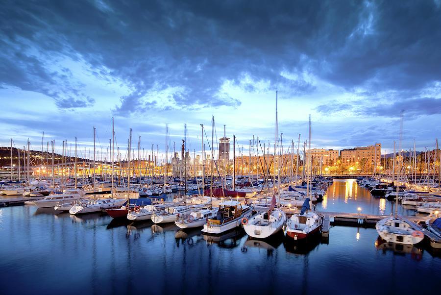 Barcelona Harbor Photograph by Nikada