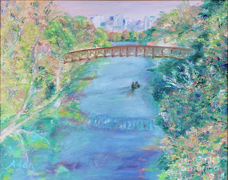 Impressionism Painting - Barton Springs Autumn Austin by Felipe Adan Lerma