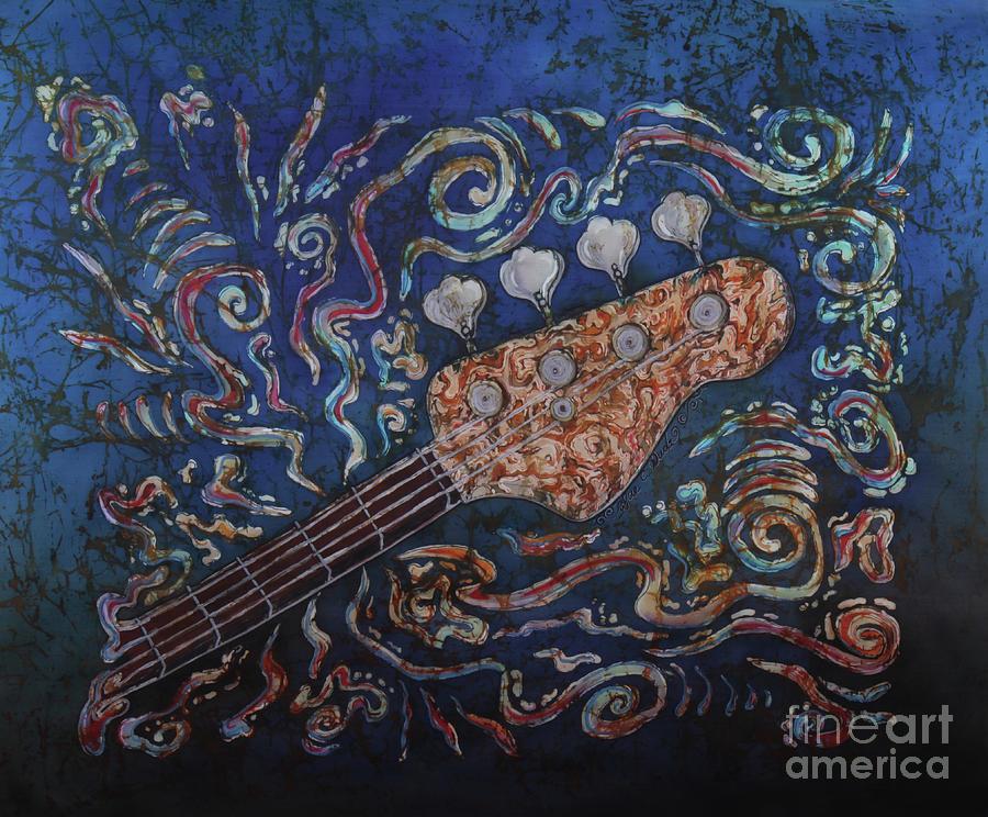 Bass Guitar Painting - Bass Guitar 2 by Sue Duda