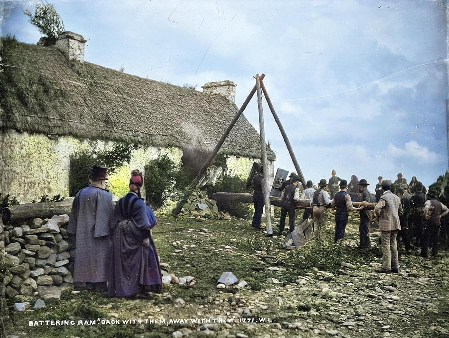 Battering Ram Back with them, away with them by robert french colorized by Ahmet Asar by Ahmet Asar