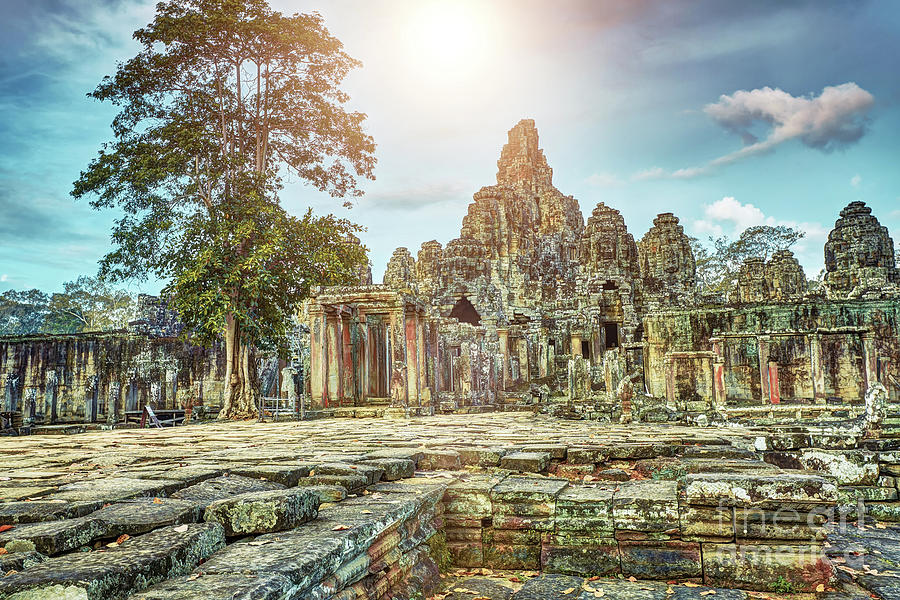 Bayon Temple Angkor Wat Unesco World Heritage Site Photograph