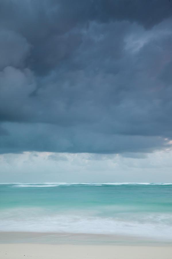 Beach At Dawn, Bavaro, Punta Cana Photograph by Walter Bibikow