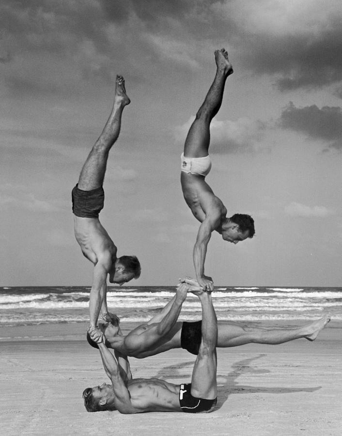 Beach Balance Photograph by Fpg