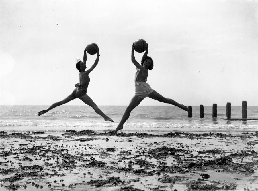 Beach Dancers Photograph by Fox Photos