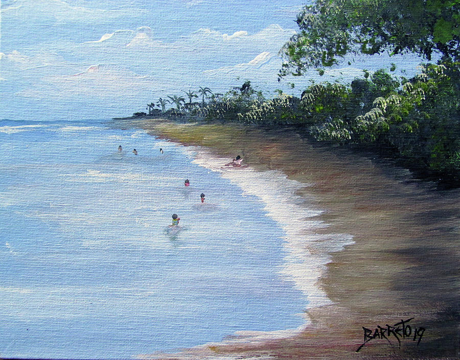 Beach Scene by Gloria E Barreto-Rodriguez