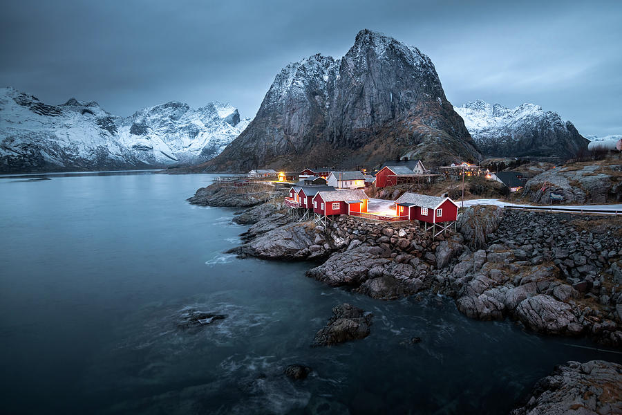 Beautiful landscape in Lofoten Island, Norway by Suranga Weeratunga