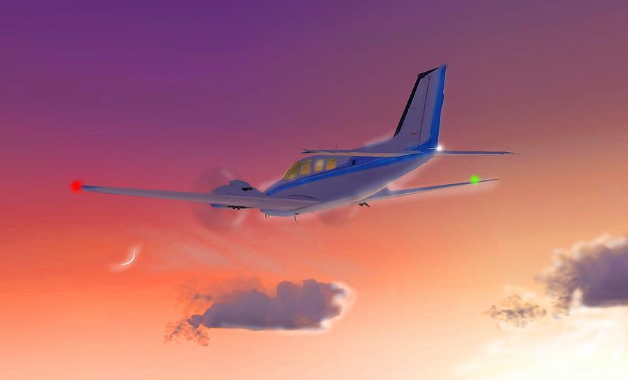 Beechcraft Baron 58 4 - Inventions by Marcello Cicchini