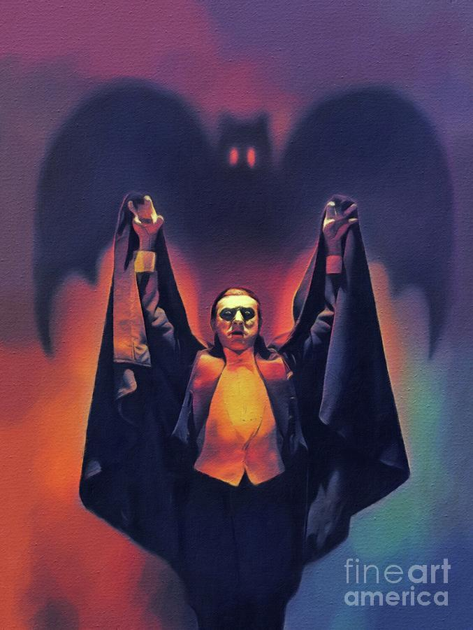 Bela Painting - Bela Lugosi As Dracula by John Springfield