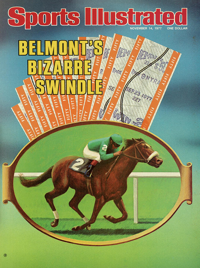 Belmonts Bizarre Swindle Sports Illustrated Cover Photograph by Sports Illustrated