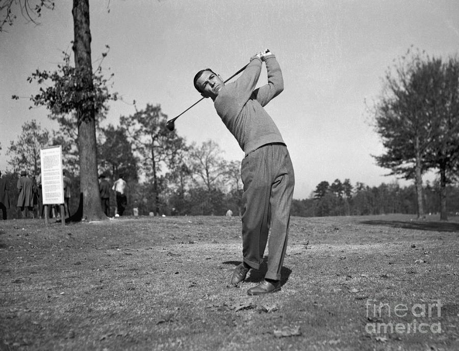 Ben Hogan Swinging Golf Club Photograph by Bettmann