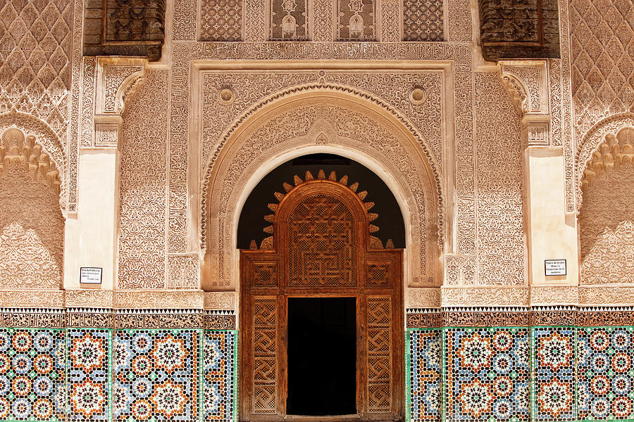 Ben Youssef Medersa Photograph by Kelly Cheng Travel Photography