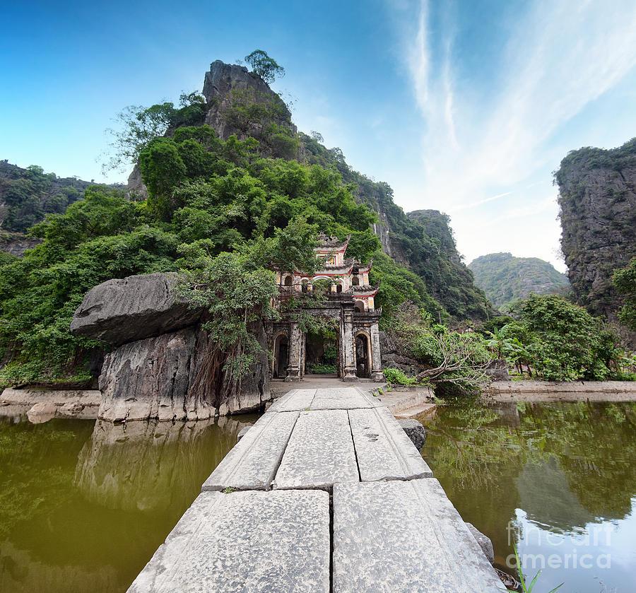 Religious Photograph - Bich Dong Pagoda In Ninh Binh, Vietnam by Banana Republic Images