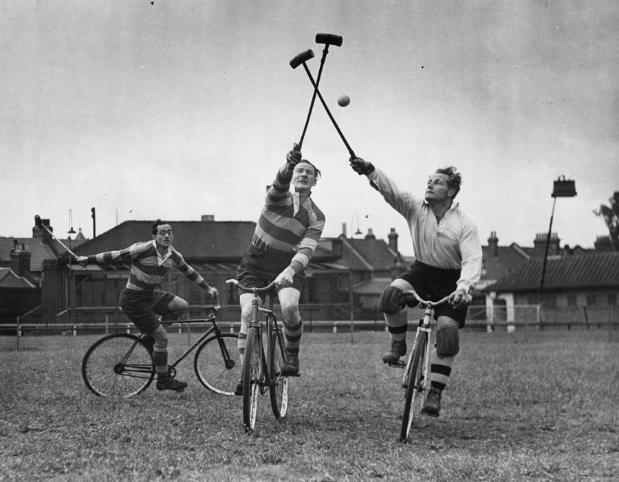 Bicycle Polo Photograph by Bert Hardy