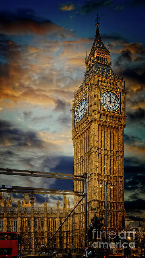 Big Ben Photograph - Big Ben London City by Adrian Evans