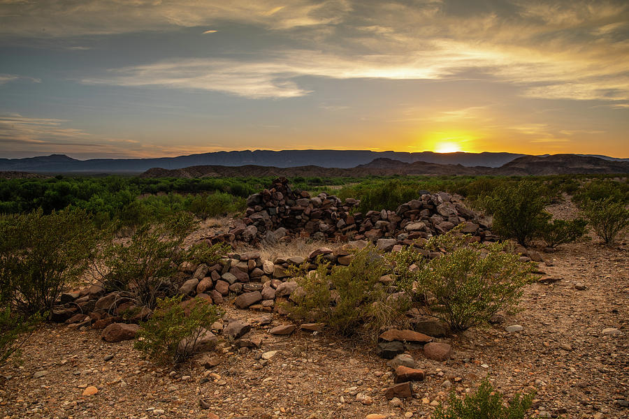 Big Bend Sunset by Dean Ginther