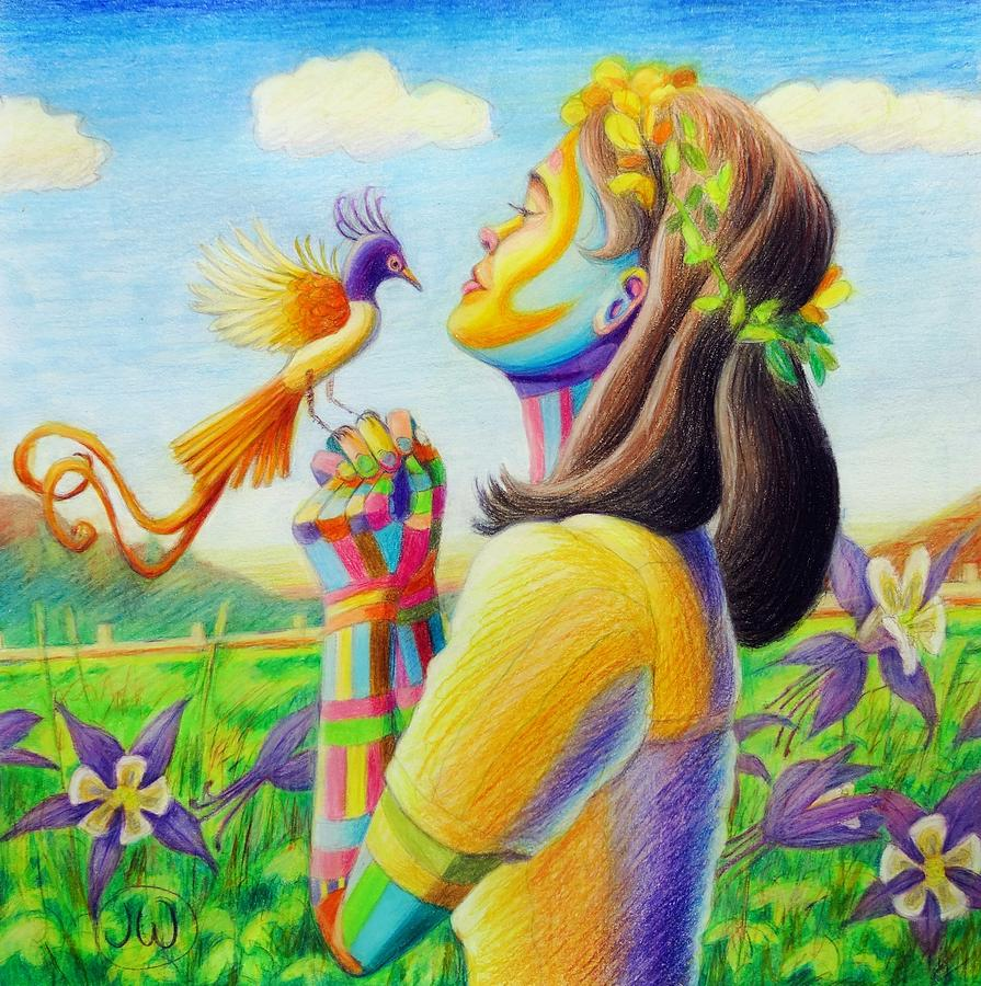 Bird of paradise by June Walker