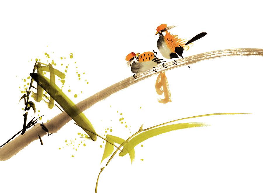 Birds Digital Art by Vii-photo