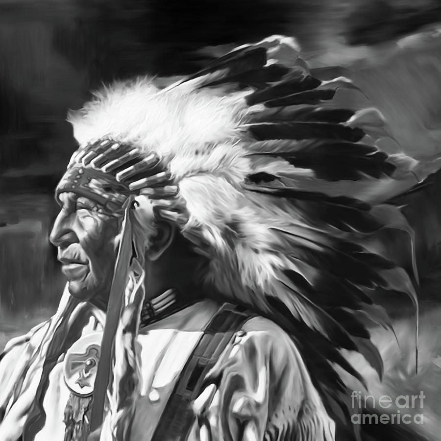 Black and white native art by gull g