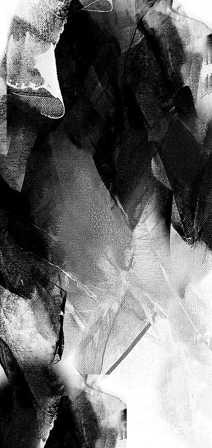 Diamond Painting - Black White Grey Abstract  by Vesna Antic