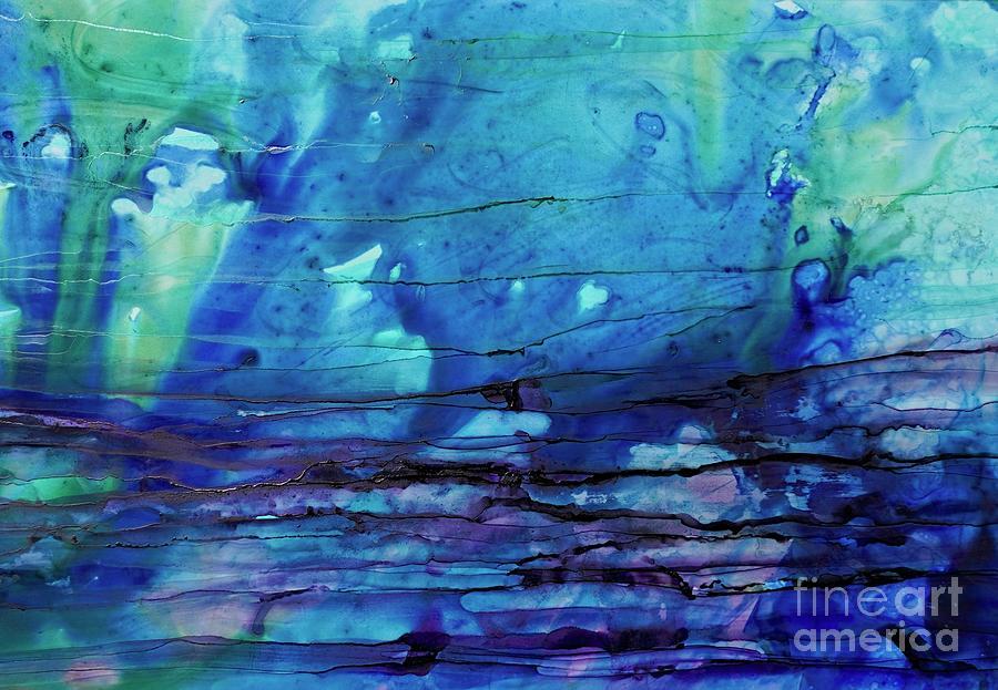 Horizontal Blue Daze by Christine Chin-Fook