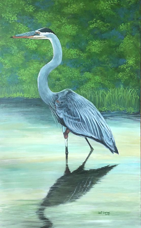 Blue Heron by Jeanette Jarmon