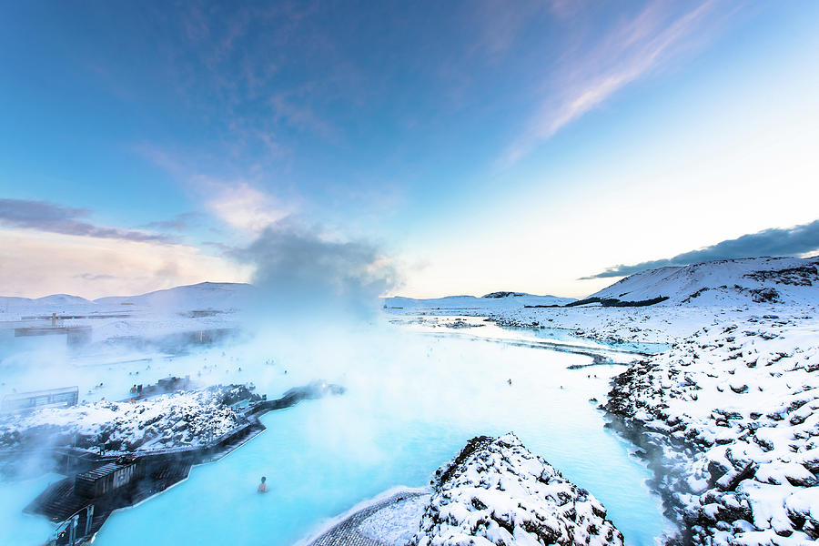 Blue lagoon geothermal spa in Iceland by Suranga Weeratunga