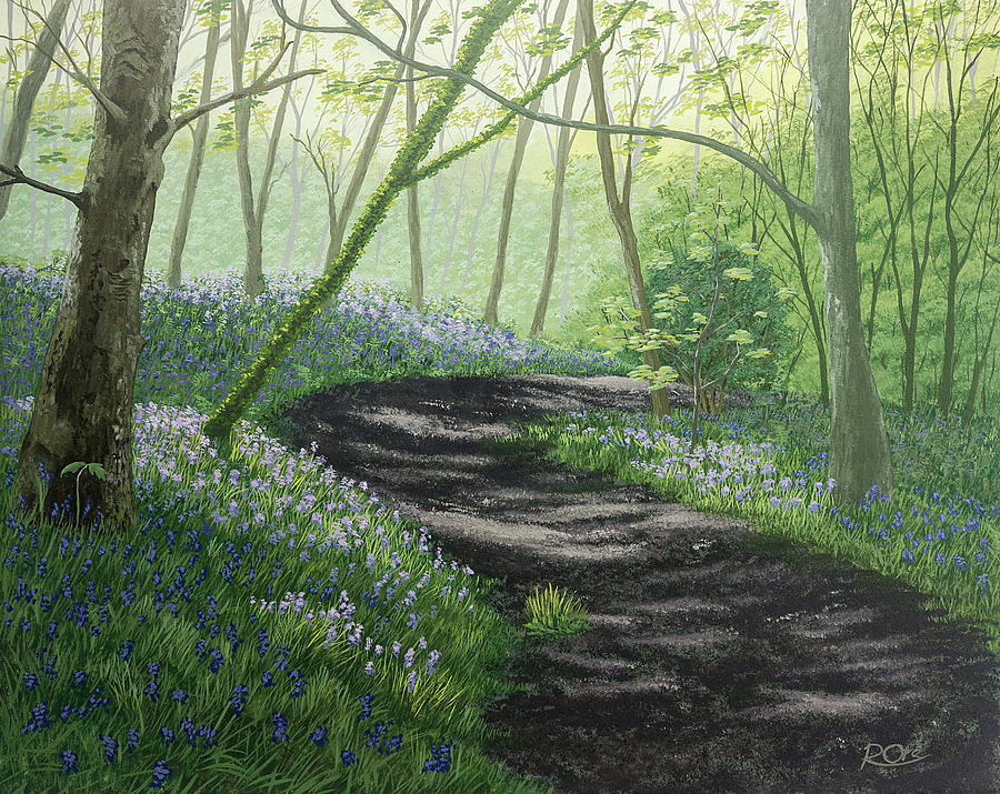 Bluebells Painting - Bluebell Wood by Raymond Ore