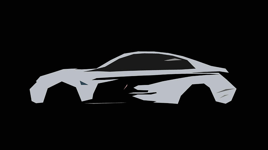 Bmw M4 Coupe Motogp Safety Car Abstract Design Digital Art By Carstoon Concept
