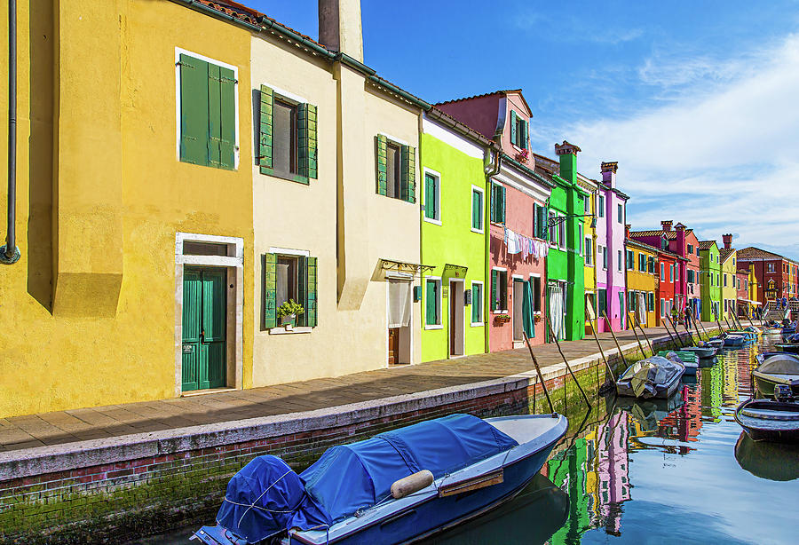 Boats in Burano by Darryl Brooks