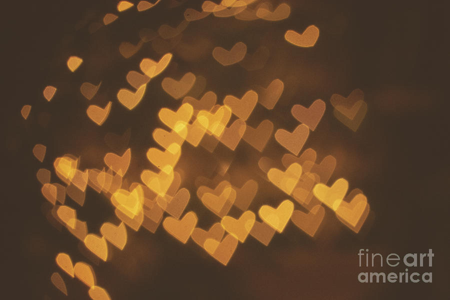 Bokeh of hearts by Mariusz Talarek
