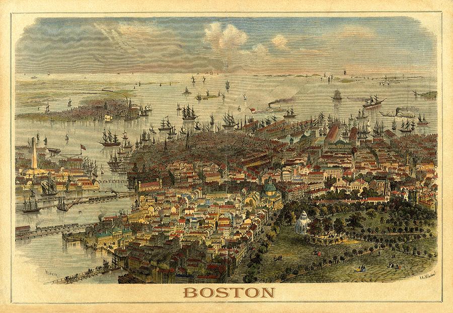 Boston 1850 by Andrew Fare