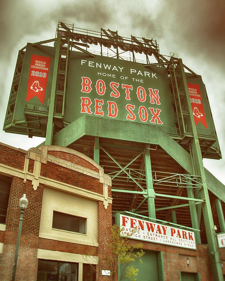 Boston Red Sox Fenway Park Scoreboard by Joann Vitali