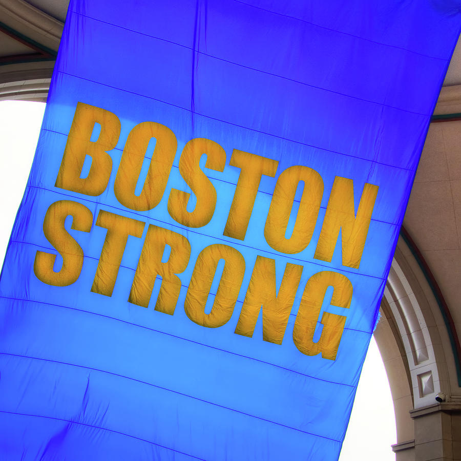 Boston Strong - Boston Marathon Banner by Joann Vitali
