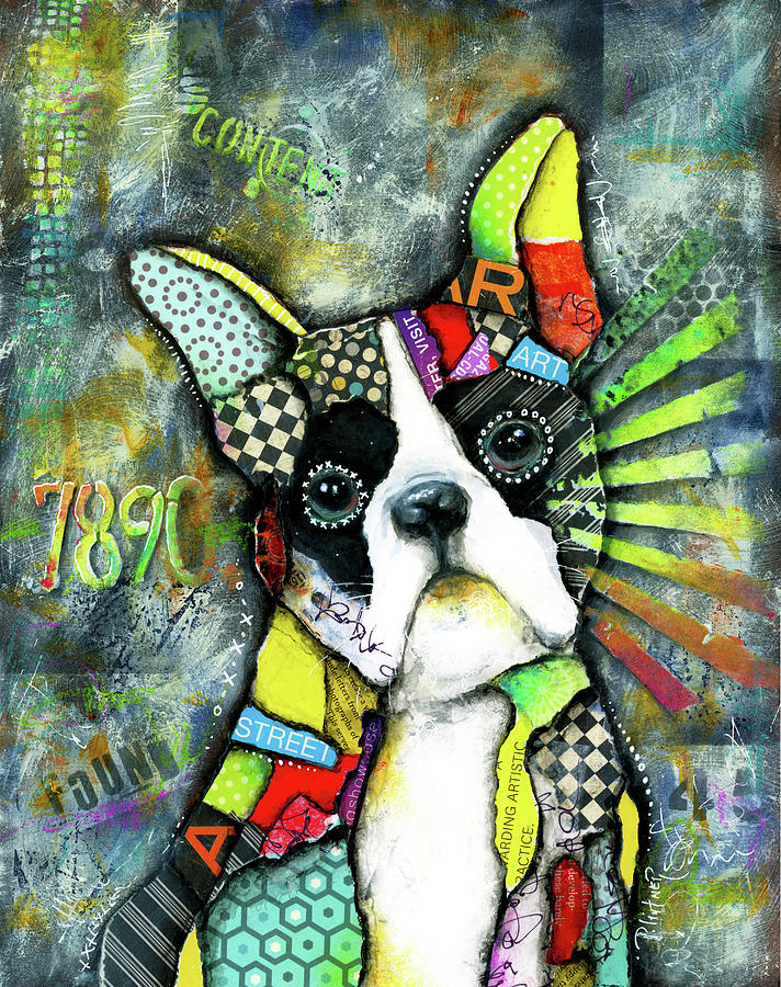 Boston Terrier by Patricia Lintner