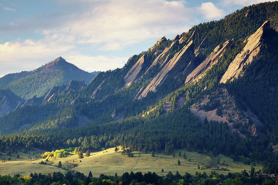 Boulder Colorado Flatirons In Fall Photograph by Beklaus