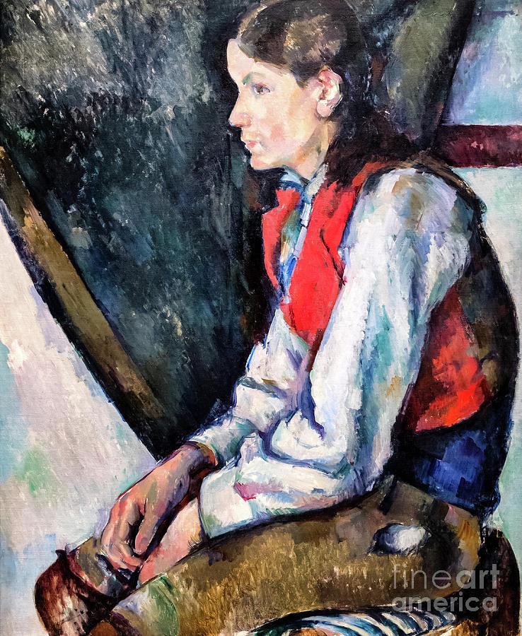 Boy in a Red Vest by Paul Cezanne