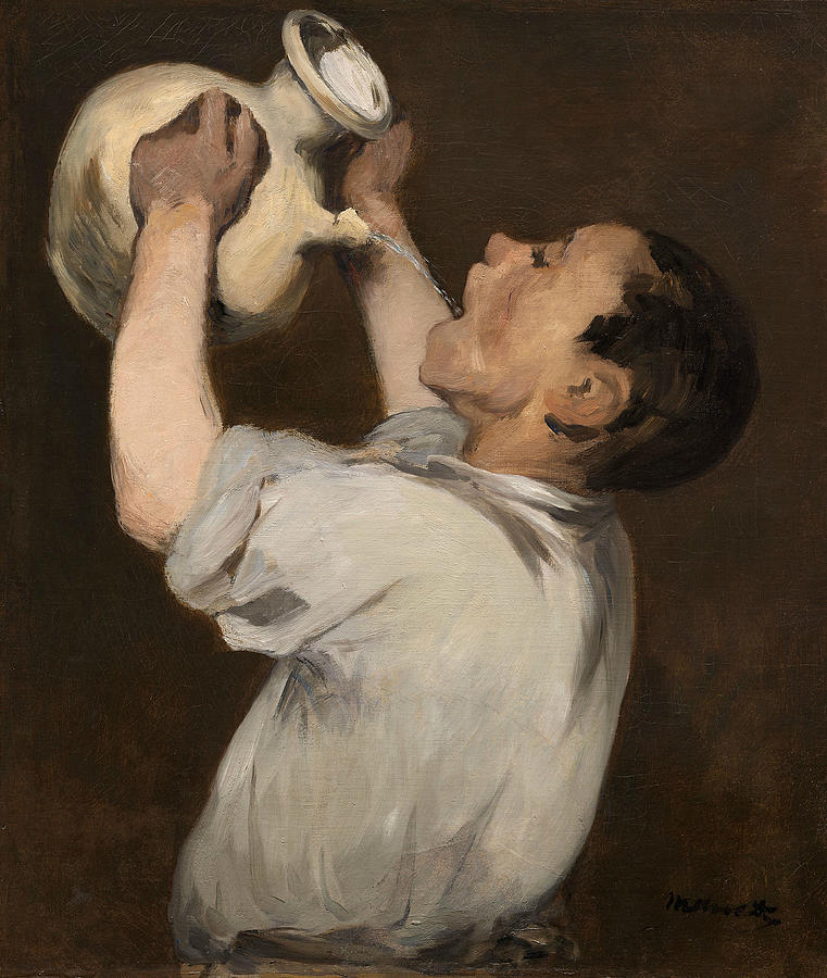 French Painters Painting - Boy With Pitcher by Edouard Manet
