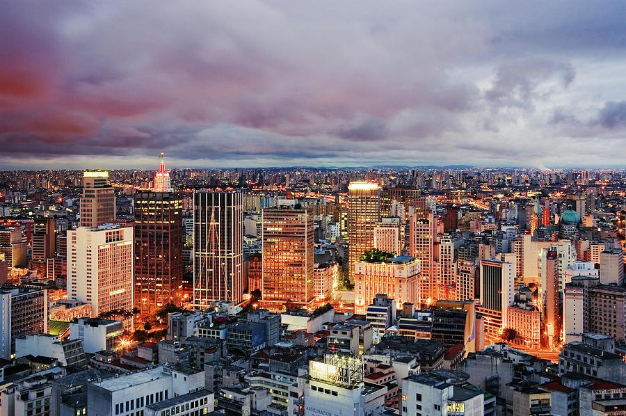 Brazil, Sao Paulo, Cityscape, Elevated Photograph by Jeremy Woodhouse