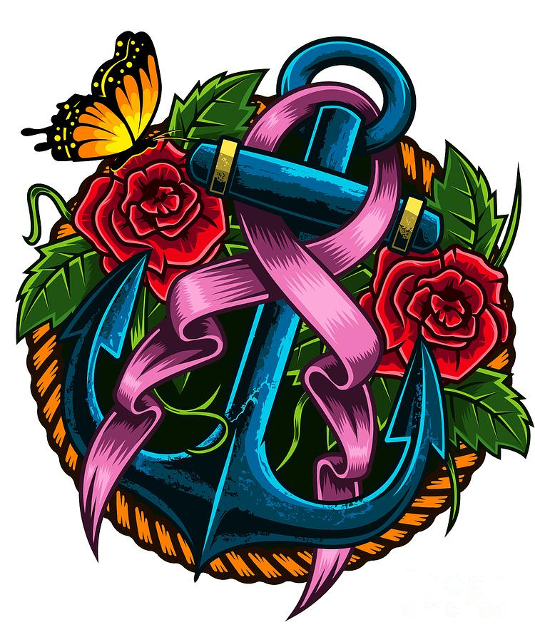 Breast Cancer Awareness Prevention Pink Ribbon Digital Art By