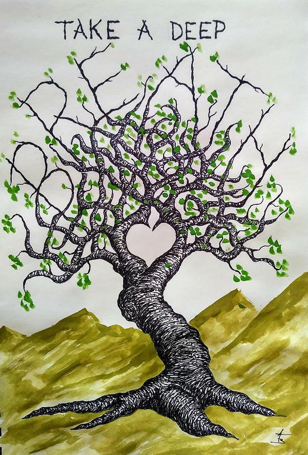 Breathe Love Tree by Aaron Bombalicki