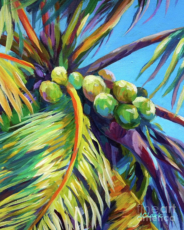 Coconuts Painting - Bright Coconuts by John Clark