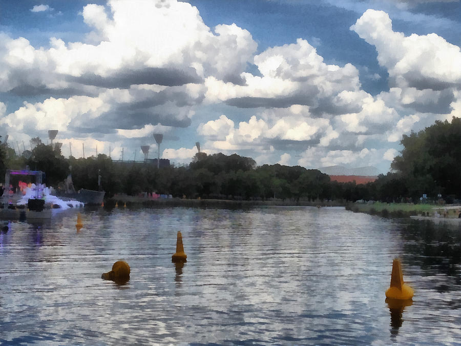 Buoys Photograph - Buoys In The River by Ashish Agarwal