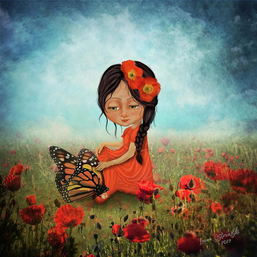 Butterfly Digital Art - Butterfly Whisperer by Laura Ostrowski