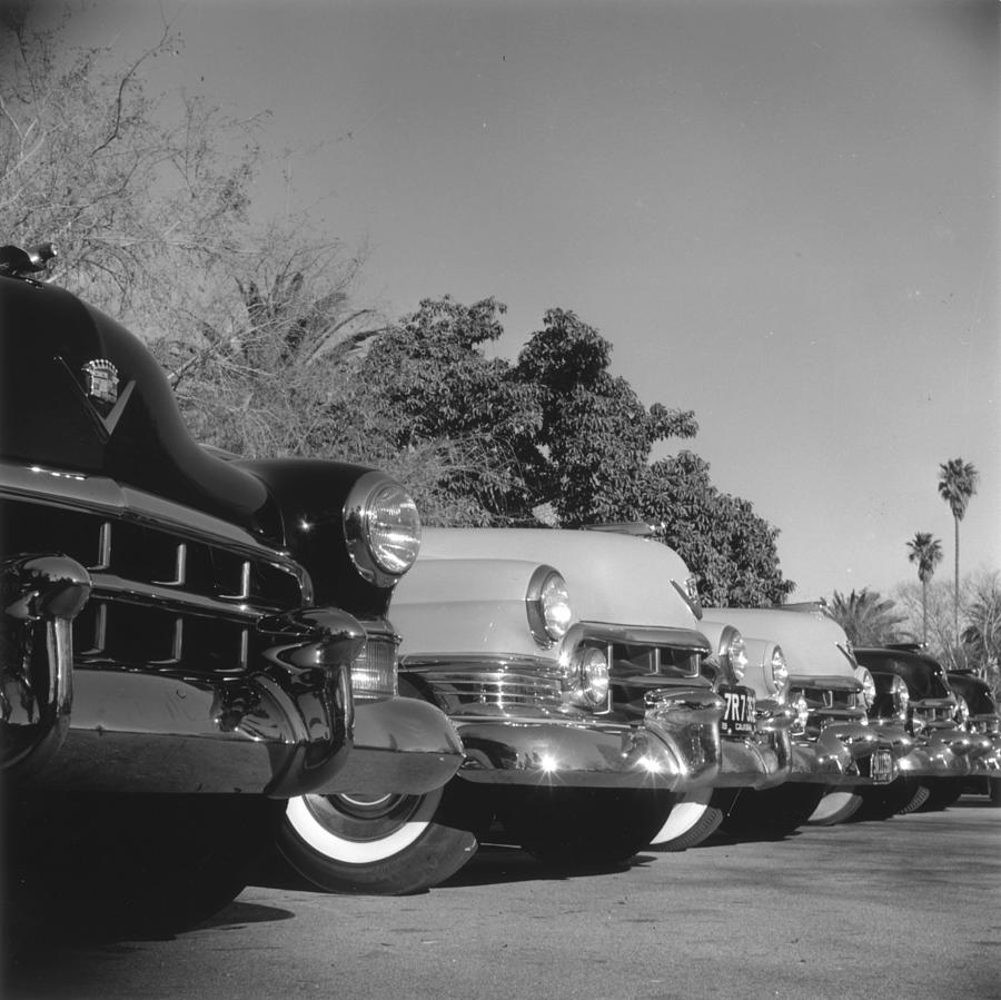 Cadillac Cars Photograph by Slim Aarons