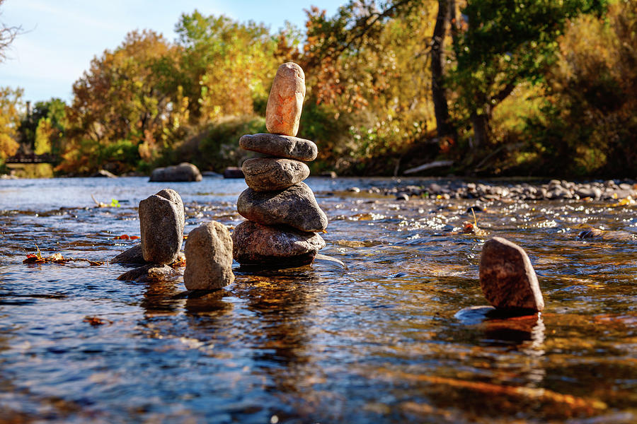 Cairns In Clear Creek by Jeanette Fellows