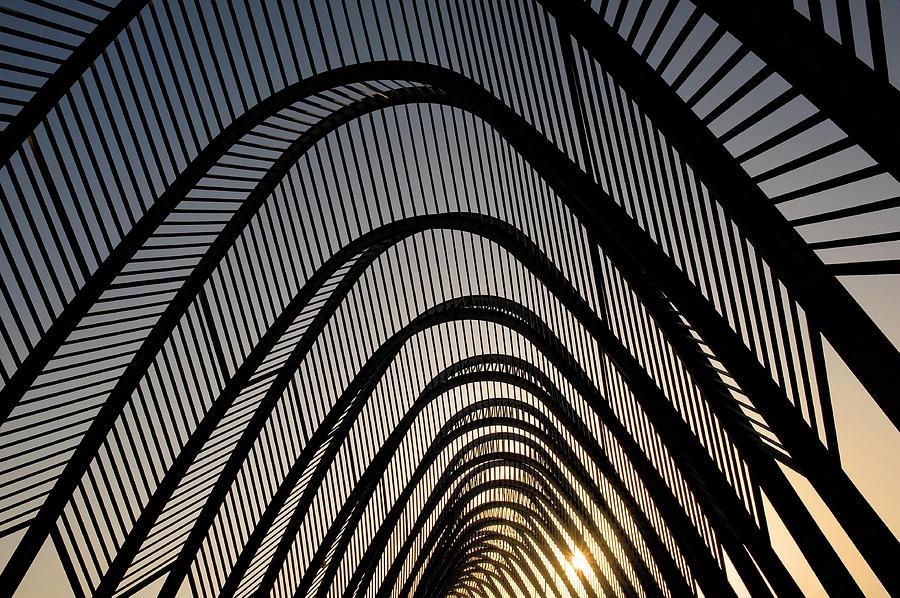 Calatrava Arches, Olympic Village Photograph by Izzet Keribar