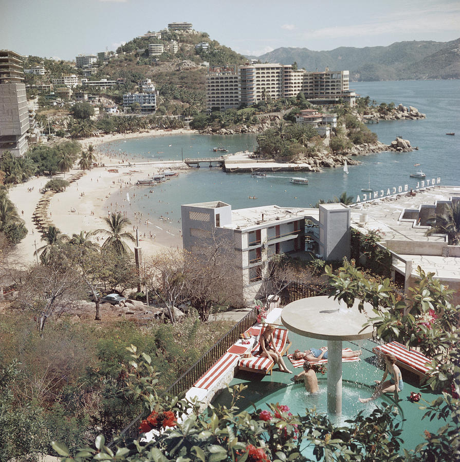 Caleta Beach, Acapulco Photograph by Slim Aarons