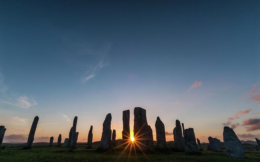 Callanish Photograph - Callanish Stone Circle Sunset by David Ross