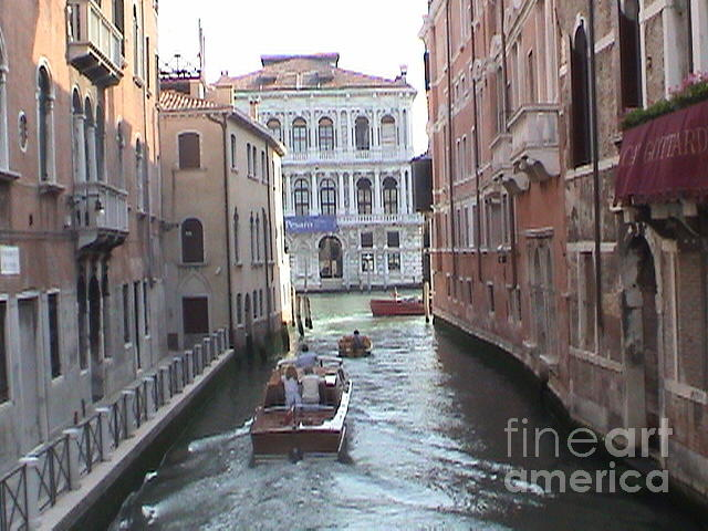 Canal Venice Italy Panoramic View by John Shiron